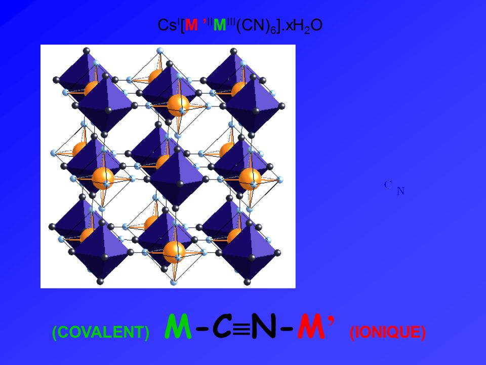 CsI[M 'IIMIII(CN)6].xH2O